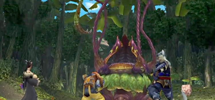 Lord Ochu Battle Scene in FFX HD