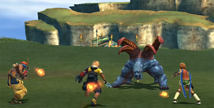 Tidus ready to steal in FFX HD Calm Lands