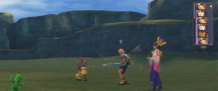 FFX HD Battle vs Cactuar Screenshot