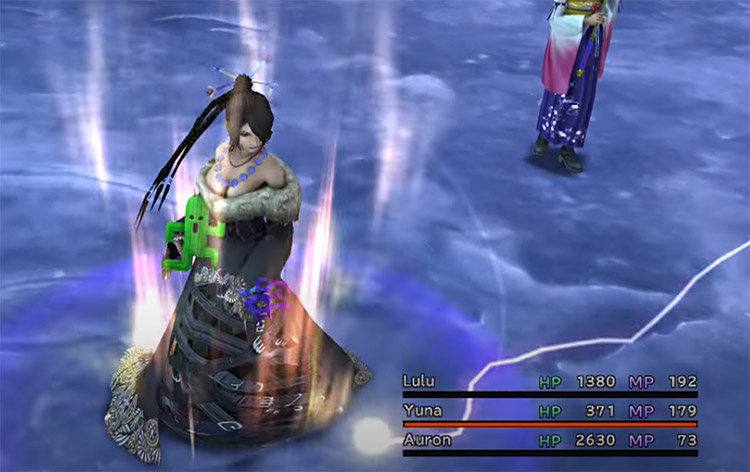 Lulu casting magic spell in FFX HD
