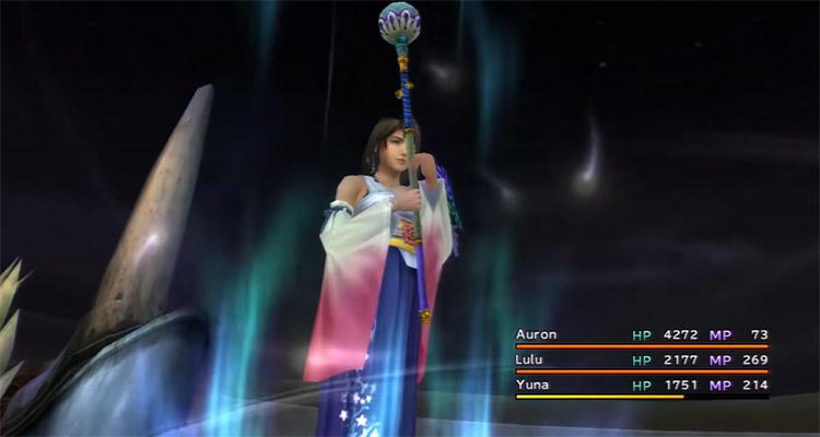 Yuna Casting White Magic in FFX HD