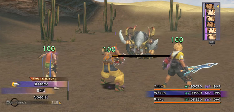 FFX HD Party Being Healed