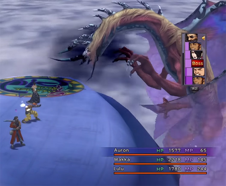 Battle with Evrae on airship / FFX HD