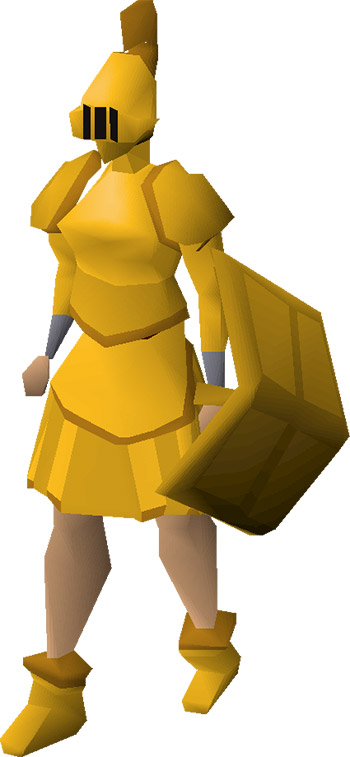 Gilded Armour Render / OSRS Preview
