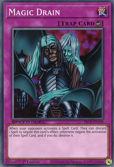 Magic Drain Yu-Gi-Oh Card