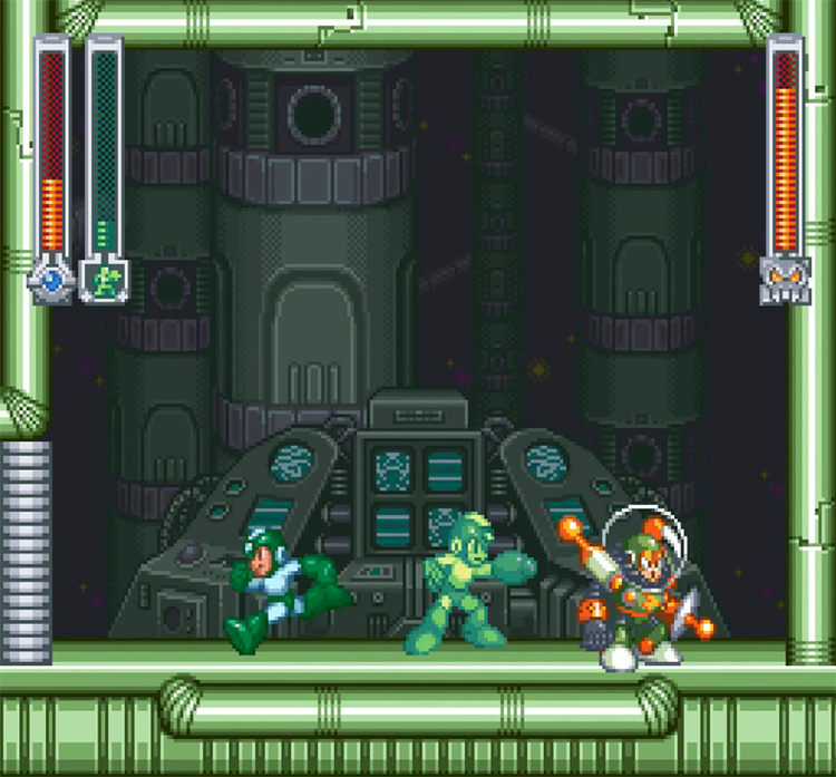 Rockman & Forte SNES gameplay