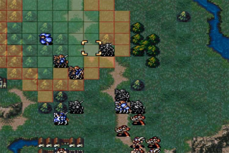 Fire Emblem: Genealogy of the Holy War gameplay