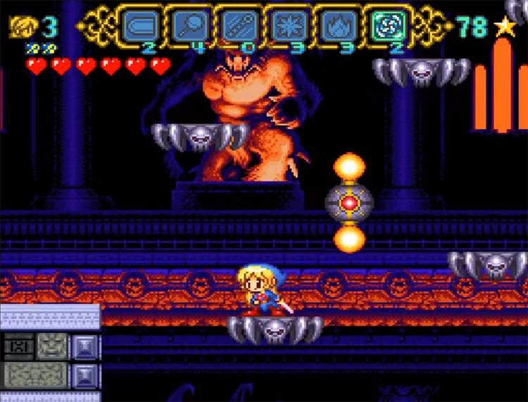 Magical Pop'n SFC game screenshot
