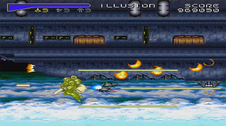 Super Dimension Fortress Macross: Scrambled Valkyrie SNES gameplay
