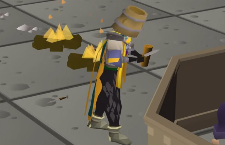 Practicing fletching skill in OSRS
