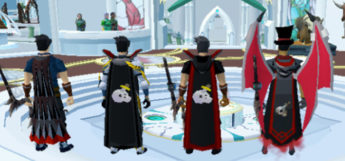 Slayer Capes lineup in Old School RuneScape