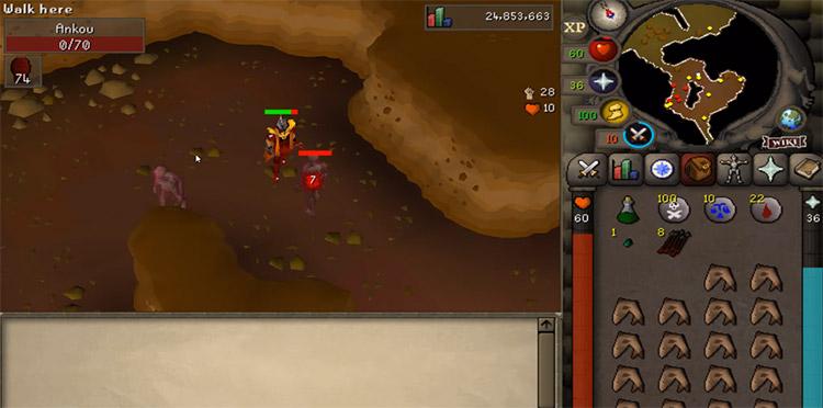 Ankou OSRS Slayer Battle Screenshot