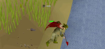 Fishing with Dragon Harpoon in Old School RuneScape
