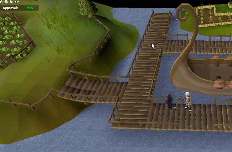 Miscellania Docks in Old School RuneScape