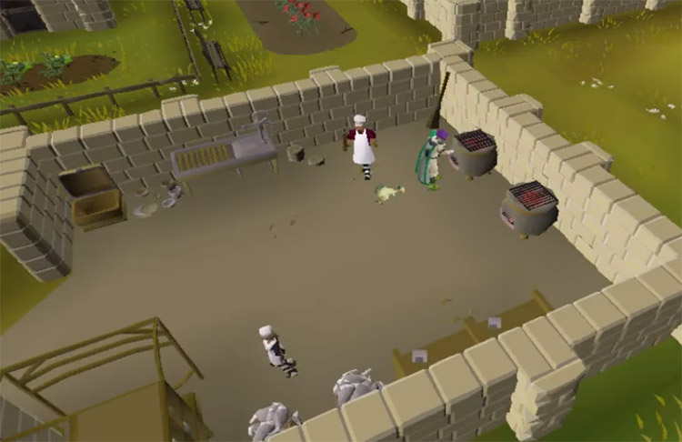 Hosidius House Kitchen Cooking Ranges in OSRS