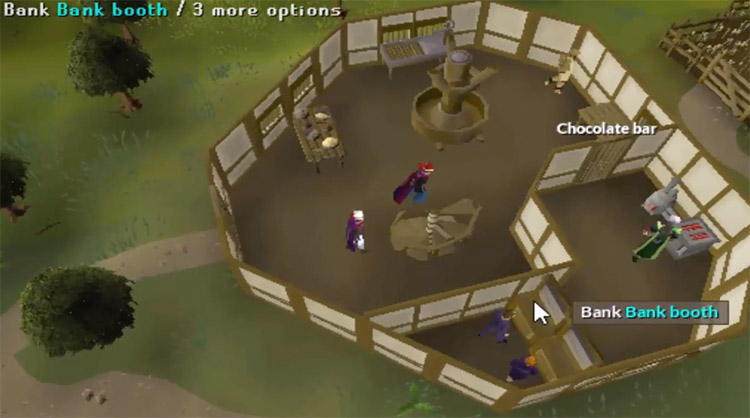 OSRS Cooks' Guild Ranges and Bank