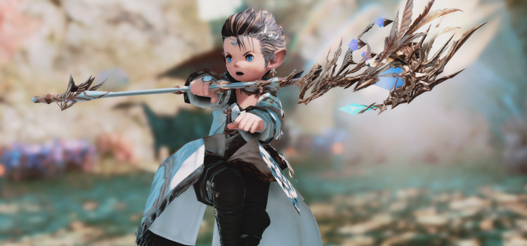 Lalafell White Mage Glamour Pose in FFXIV