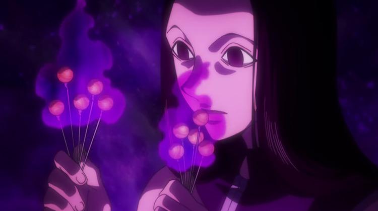 Illumi Zoldyck HxH anime screenshot