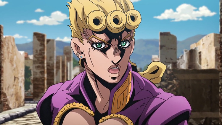 Giorno Giovanna from JoJo's Bizarre Adventure: Golden Wind anime