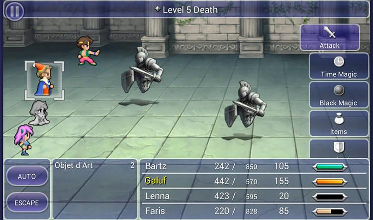 Grinding for AP in Bal Castle - Final Fantasy V