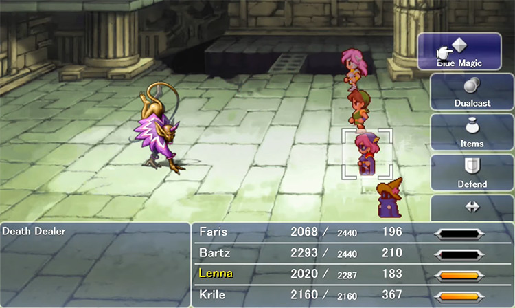 Blue Mage in Battle / FF5