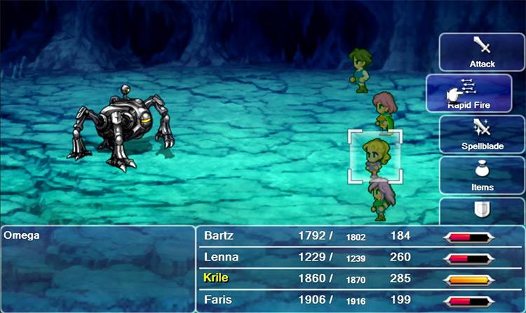 Omega boss in Final Fantasy V