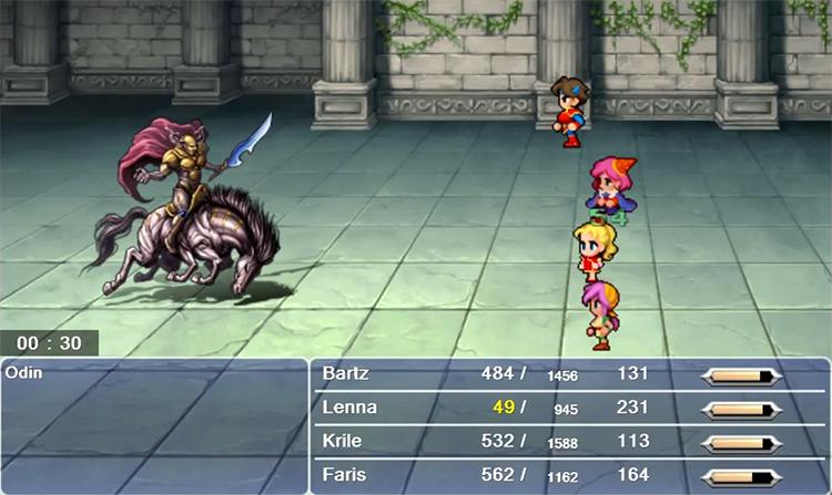 Odin boss in Final Fantasy V