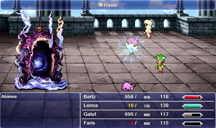 Atomos boss screenshot in FFV