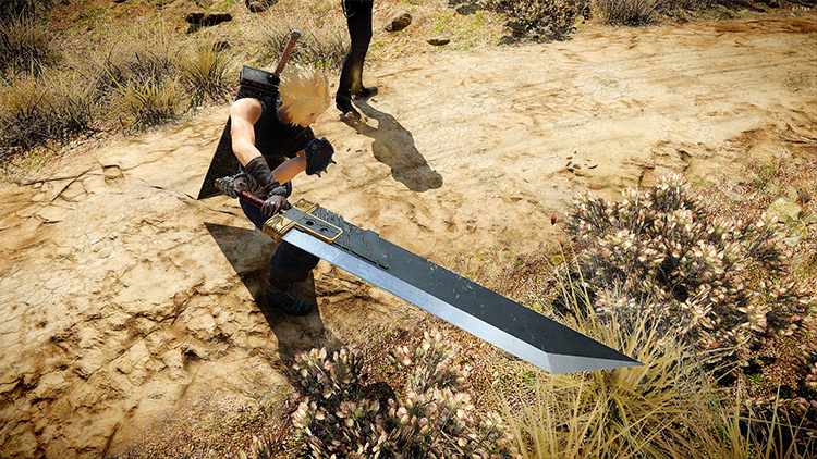 Zack's Buster Sword from Crisis Core Mod FF15