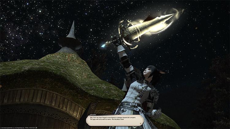 Shining Excalibur Zeta relic weapon / FFXIV Screenshot