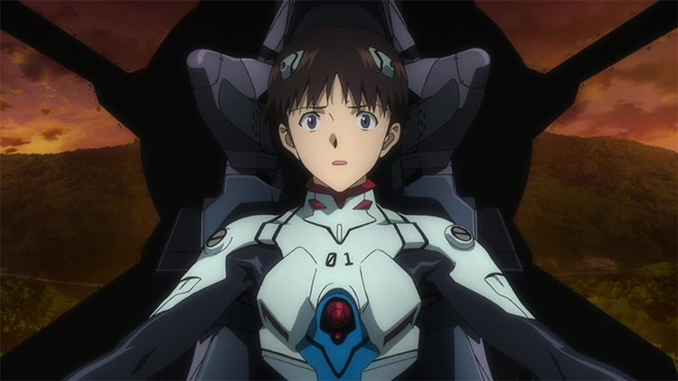 Shinji Ikari from Neon Genesis Evangelion anime