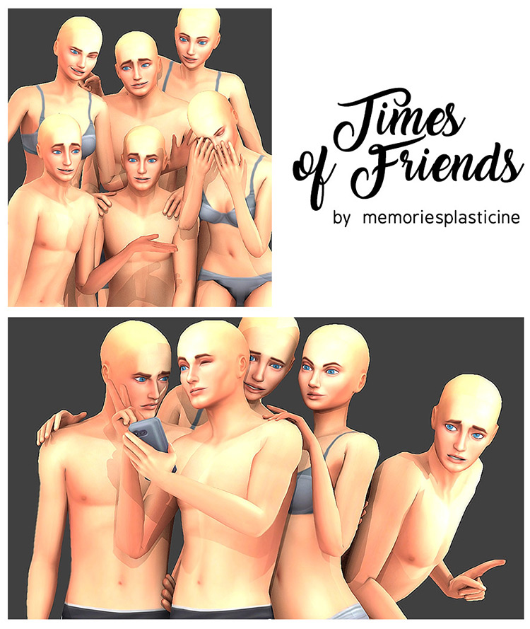 Times of Friends by memoriesplasticine Sims 4 CC