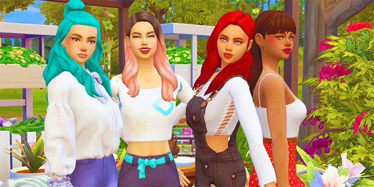 Bestfriend Group Pose Pack by Simmerdanicc for Sims 4