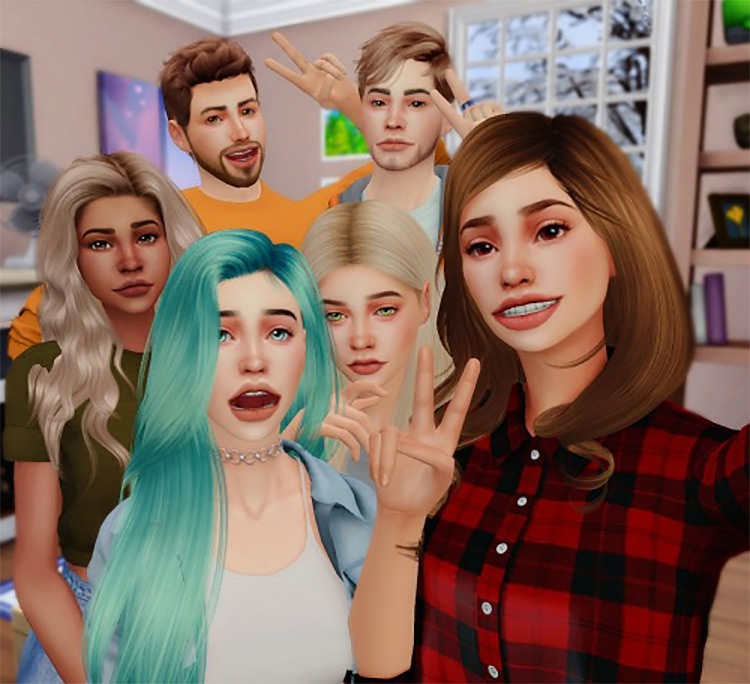 Zepeto Poses #1 by nemisims for Sims 4