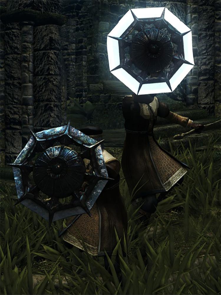 Crystal Ring Shield from Dark Souls Remastered