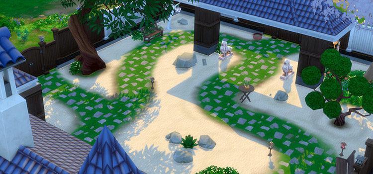 Sims 4 Zen Garden & Sand Garden CC