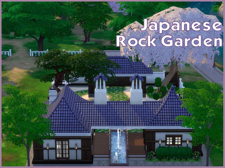 Japanese Rock Garden Sims 4 CC