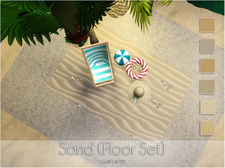 Sand (Floor Set) Sims 4 CC
