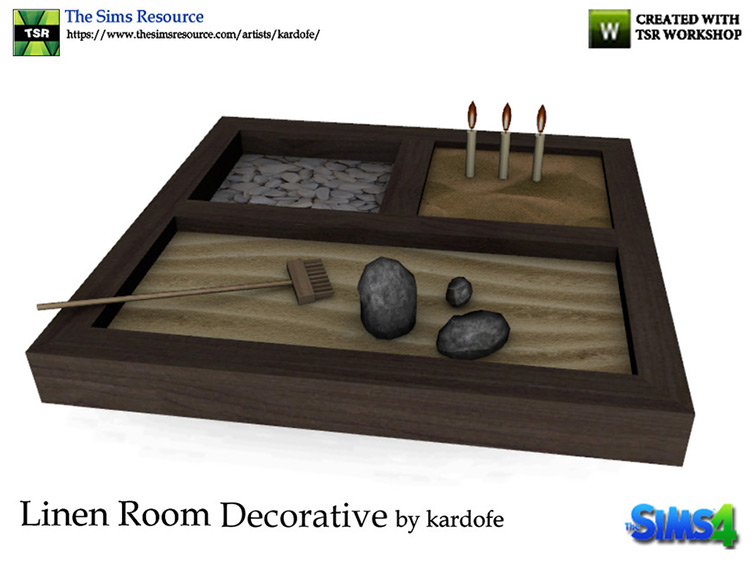 Decorative Zen Garden for Sims 4