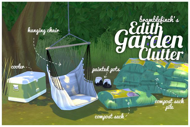 Edith Garden Clutter Sims 4 CC