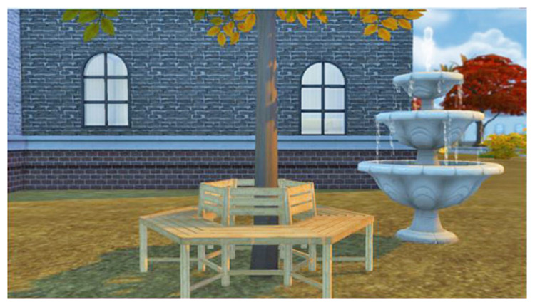 Tree Bench for Sims 4