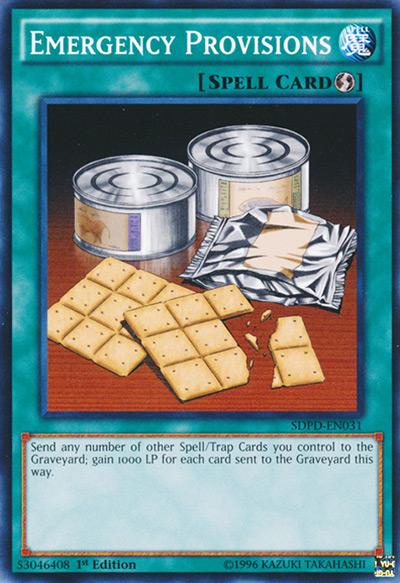 Emergency Provisions Yu-Gi-Oh Card