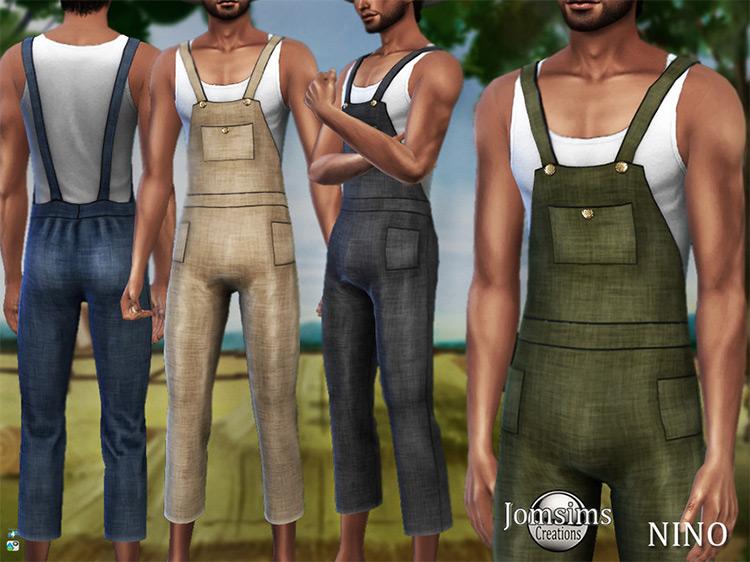 Nino Farmer Overalls TS4 CC