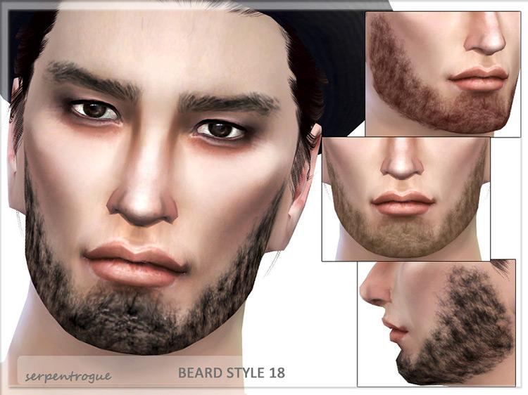 Chinstrap Beard Style Sims 4 CC