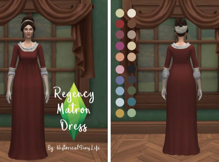 Regency Matron Dress TS4 CC