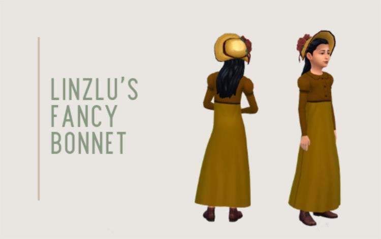 Fancy Bonnet Sims 4 CC