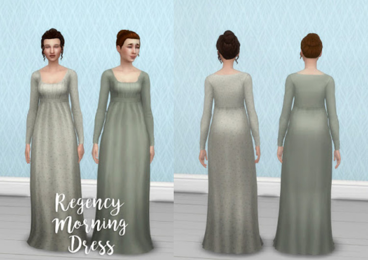 Regency Morning Dress Sims 4 CC