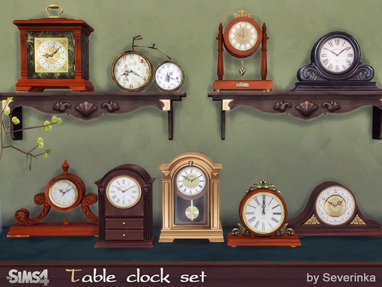 Classic Table Clocks Sims 4 CC