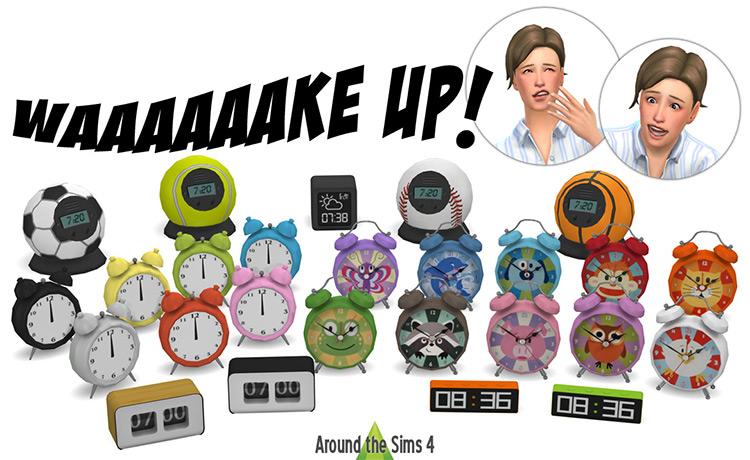 Waaaaaake Up! Alarm Clocks TS4 CC
