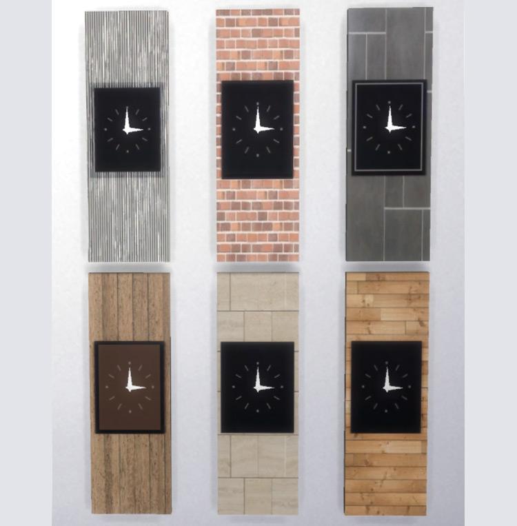 Modern Wall Clocks for Sims 4
